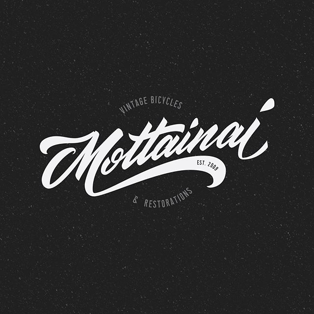 🛎 Ding! New logo for @mottainaicycles_collingwood . Fresh script for the best bike shop northside. Swipe through to see some vector porn, for you Ai geeks 🤓 Logotype features the dependable Union Condensed typeface by @lachlan.type 👈🏼 Praise. #branding #logotype #lettering #melbourne #handlettering #design #typography #logodesign #script #brushscript #scriptlettering #bike #typedesign #calligraphy #signpainting