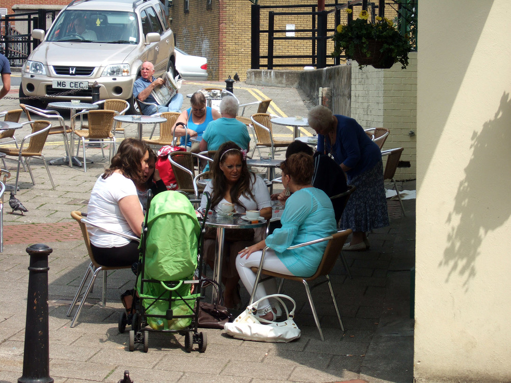 Pavements and squares offer places to meet other people and for businesses to spill out into
