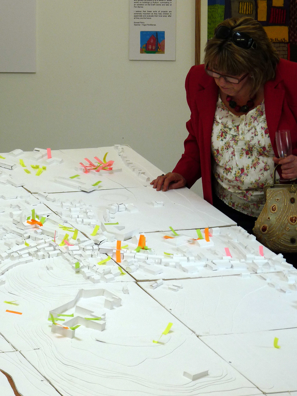A large scale model of Ruthin