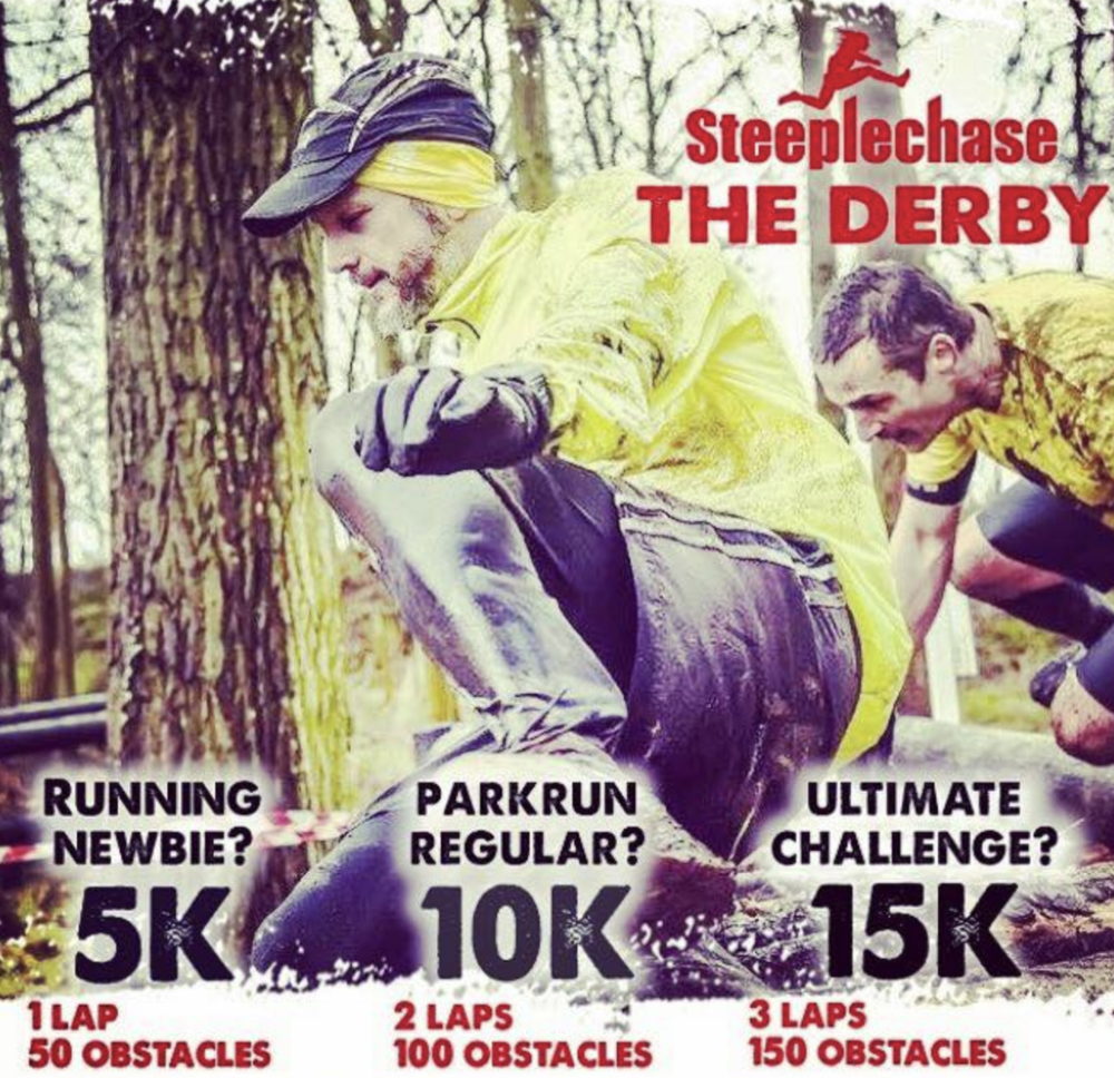 ..........PASSEDSaturday 26th May - Steeplechase - The Derby  - Join Mr dod from 11am on this yearly charity fundraiser event and be warmed up by him before you start your chosen race. Will you be doing 5/10 or 15k!