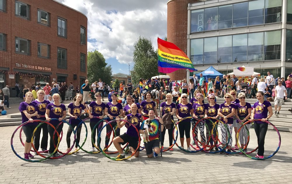 ..........Saturday 28th July -      Norwich Pride  - Join Mr dod at the Forum at 10am for a Powerhoop workout and 11am for a Laughter Session. Let's celebrate the LGBT+ community.