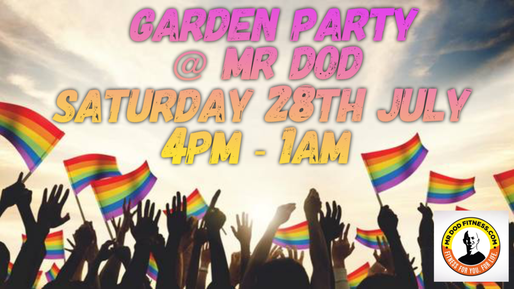 .......... After Pride Party - FREE EVENT - Join Mr dod to celebrate a great day for Pride and a year at Mr dod Fitness so far. An opportunity to get to know you better. Bring your own picnic food & drinks to make sure you have what you need. It will be so much fun! THEME IS COLOURFUL...