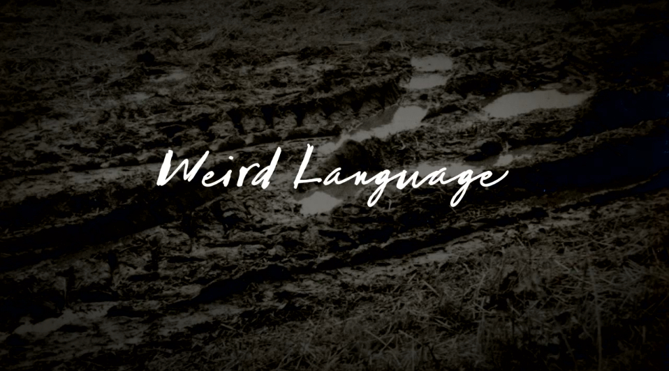 Copy of 'Weird Language'