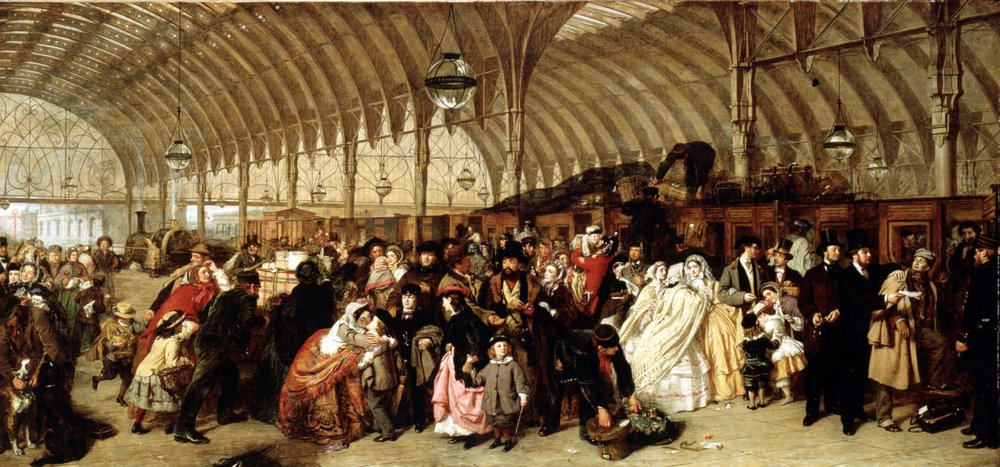 The Railway Station , de W. P. Frith (1862)