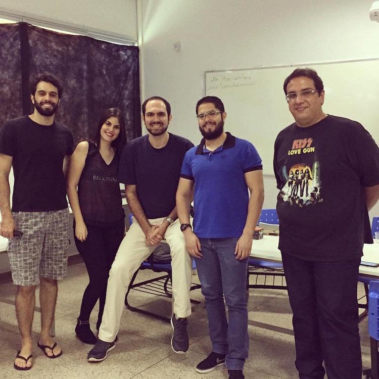 Encontro de 26 de outubro de 2016: Rafael Freitas, Déborah Caroline, Rodrigo Cássio, Victor Hugo e Leandro Alves
