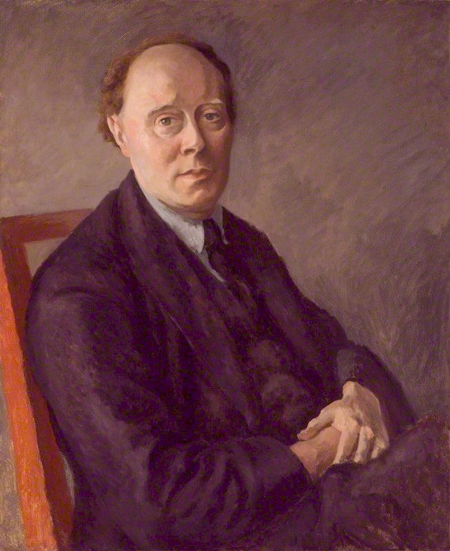 Clive Bell pintado por Roger Fry (1924)
