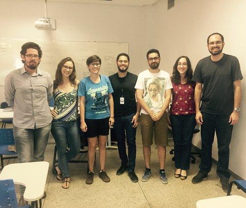 Encontro de 18 de agosto de 2017: Fabrício, Ana Júlia, Vitória Cordeiro, Victor Hugo, Lucas, Carla Gullo e Rodrigo Cássio