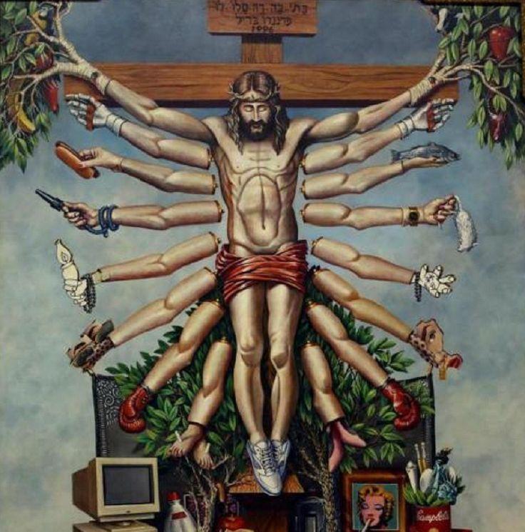 Cruzando  Jesus Cristo com o Deus Shiva  (1996), de Fernando Baril. Uma das obras criticadas da exposição Queermuseu em Porto Alegre.