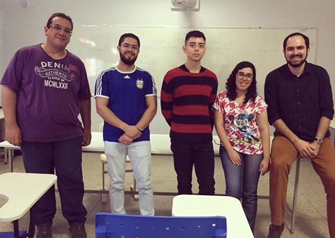 Dezembro de 2017: Leandro, Victor Hugo, Lucas, Natália Santos e Rodrigo Cássio