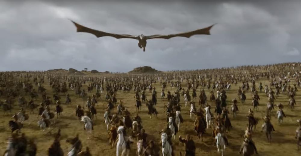 Cena de batalha em  Game of Thrones