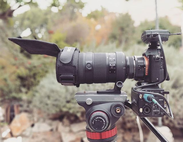 I'm ready for my close up :) #sonya7sii #sonyalpha #metabones #tascamdr60d #manfrotto #senheiser #flexlensshade