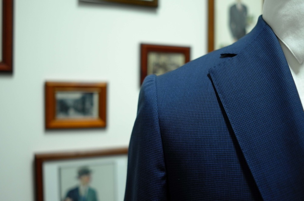 The Neapolitan Shoulder - a hallmark of artesian Italian tailoring.