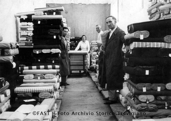 Stock Fabrics by Tessitura Monti, Industrial Archaeology from the Province of Treviso, 1940-1950