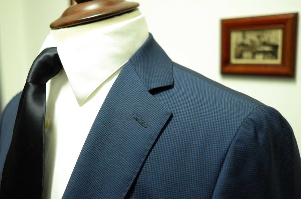 Navy Blue Houndstooth Summer Cloth