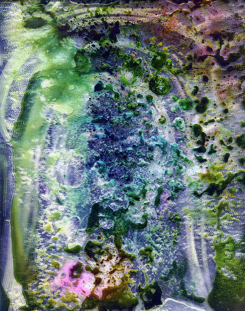 Untitled,Scanned pigments, liquids, mirror