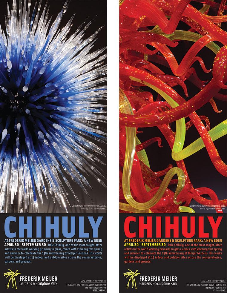 Dale Chihuly Exhibition Campaign Glenda Kraemer Design