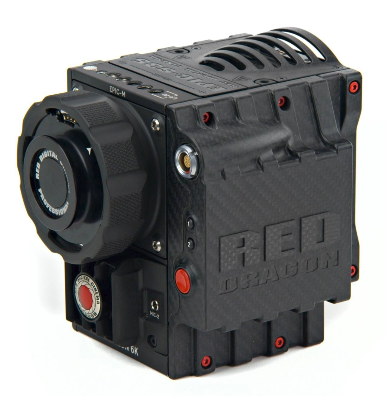 niceladyproductions :      New Camera Body for RED DRAGON    RED Digital Cinema has provided a glimpse of a brand new, carbon fiber wrapped camera body and side handle for the RED DRAGON (magnesium body and mount). Weight of the camera body is said to be a pound lighter than its EPIC brother, and oh yeah, it looks cool! (for $50k, it better).   A bunch of new RED product enhancements will be unleashed in the next few days for IBC 2013.  Keep your eyes peeled (rumours are flying)! Adobe has already announced native 6K RED DRAGON support in Premiere Pro.    RED ONE OWNERS:    A major RED ONE firmware upgrade has been announced (build 32.0.3) with the following improvements:    Added REDColor2, REDColor3 and REDLogFilm   Fix  ISO  setting after MX restore   Fix  HANC  metadata  RECORD  flag   Fix Bomb  EVF  intensity range   Added 512GB support    This is BIG news, as RED ONEs will finally be able to take advantage of all the lusciousness of REDColor3. Get the firmware upgrade  here .