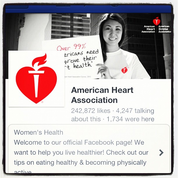 Nice seeing our work for national American Heart Association Facebook & web. (Taken with  Instagram )