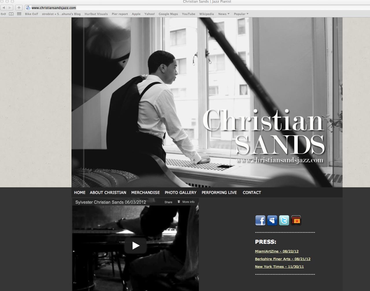 Steinway Artist,  Christian Sands.