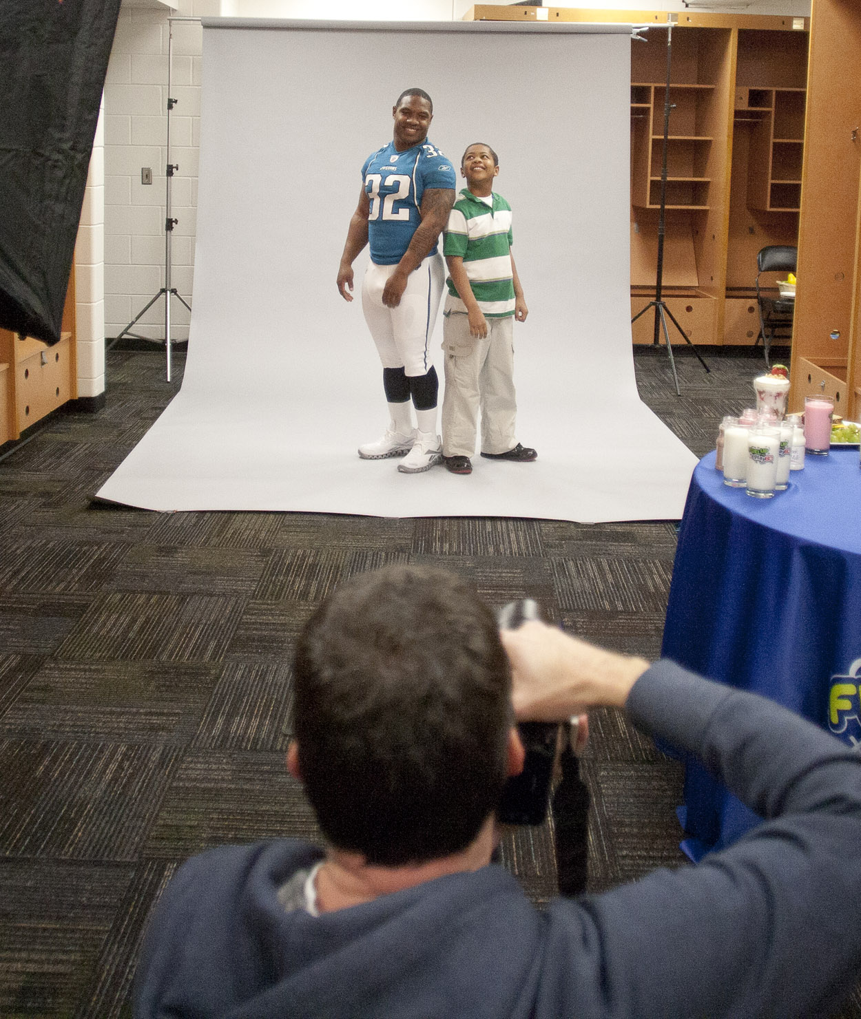 Behind the scenes with Maurice Jones-Drew for Play 60 / Milk campaign shoot.