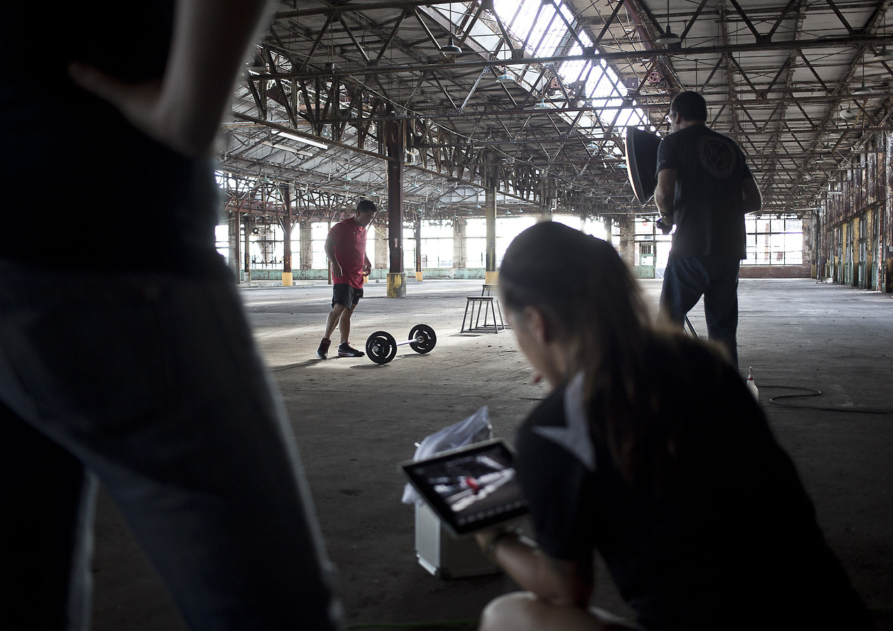 Behind the scenes.  We will post a blog entry on the planning, shooting and post on this campaign soon.