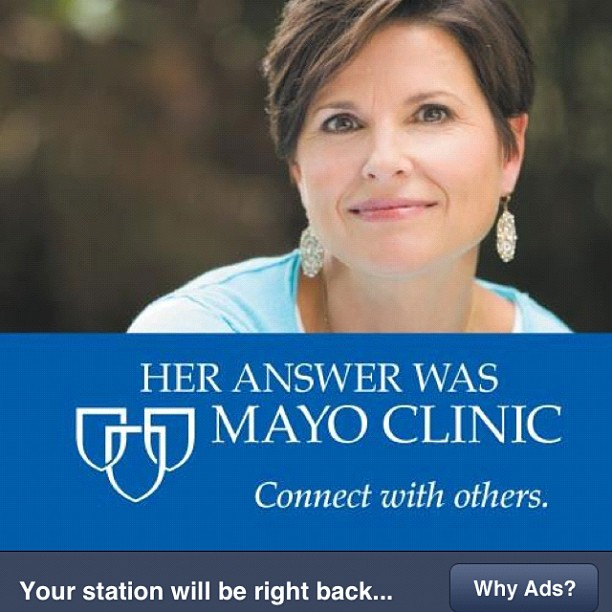 Ad we shot for Mayo just came up on my Pandora station. @MayoClinic (Taken with  Instagram )