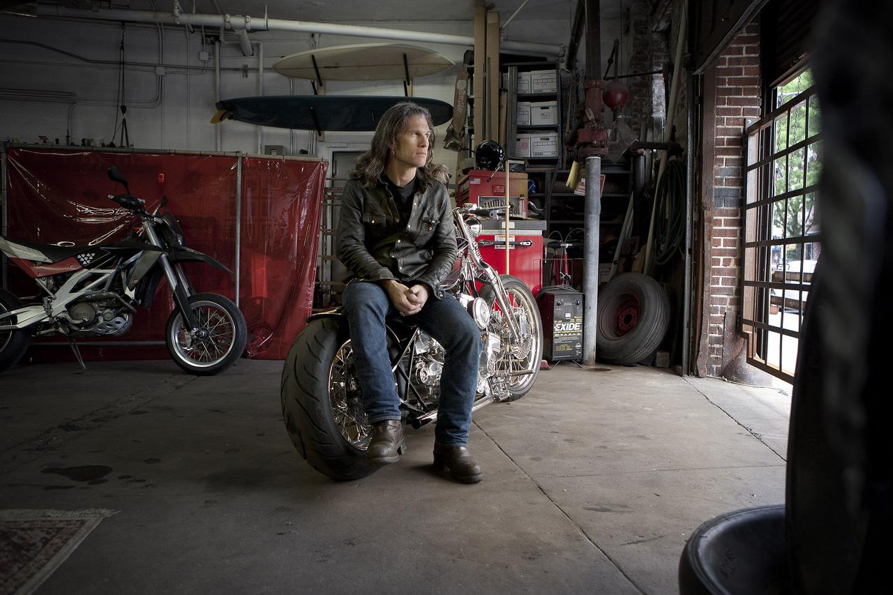 Motorcycle visionary, Paul Cox; Brooklyn.