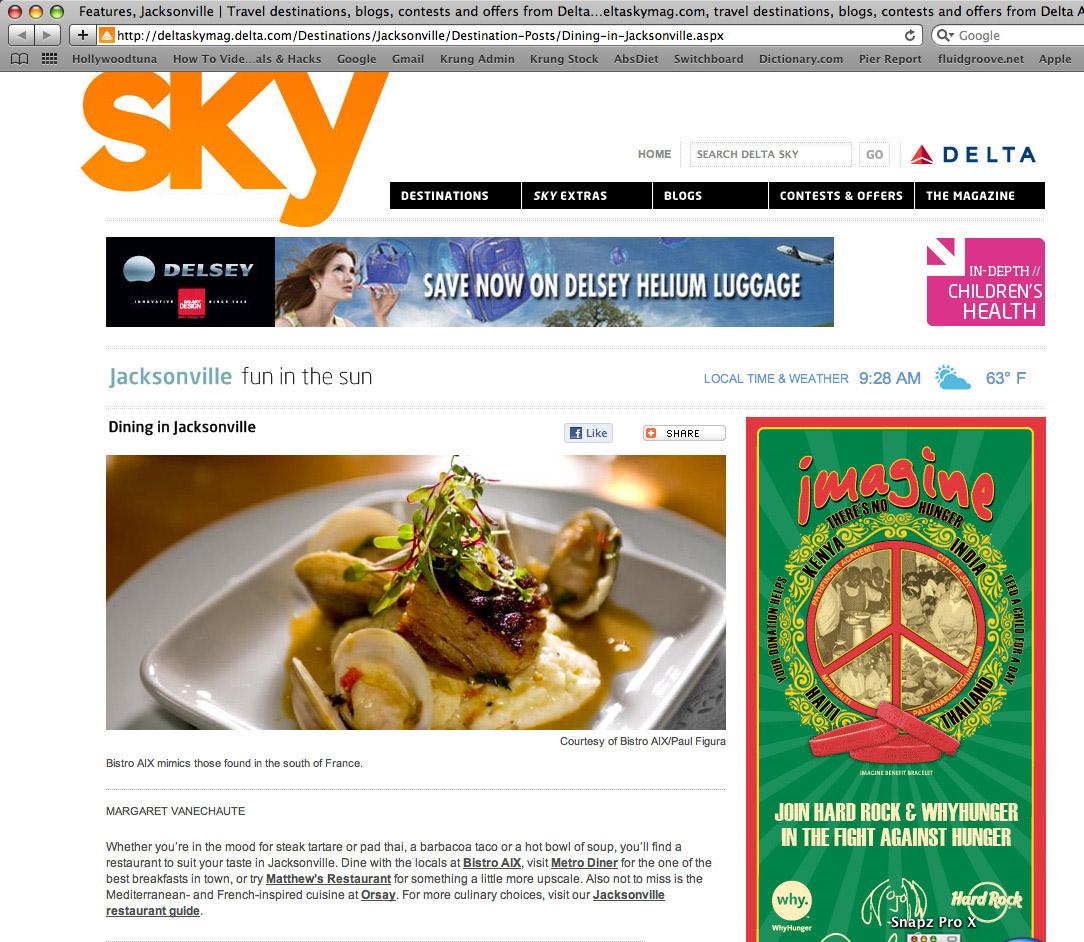 Found in Delta's SKY magazine. Photo for Bistro Aix.