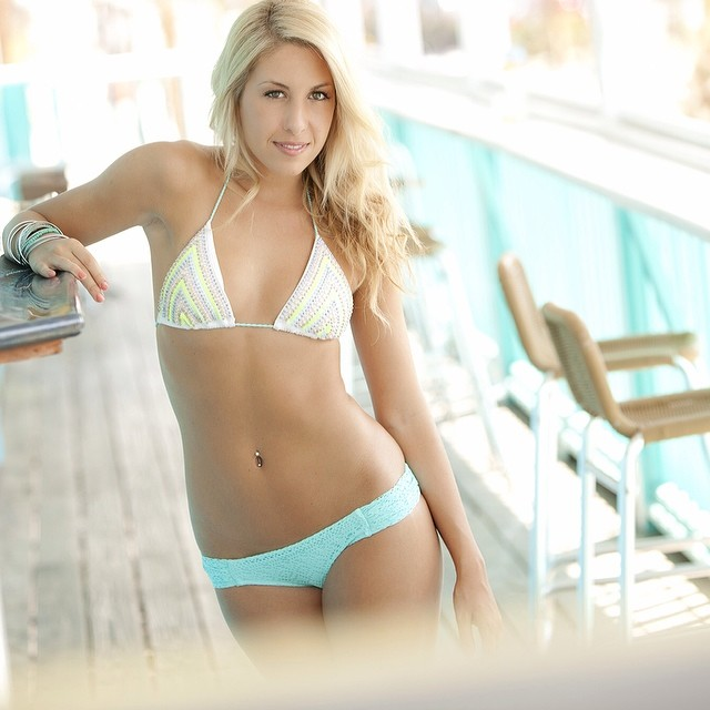 Ashley was on pftheblog.com today. #swimwear #florida #locationshoot #bikini