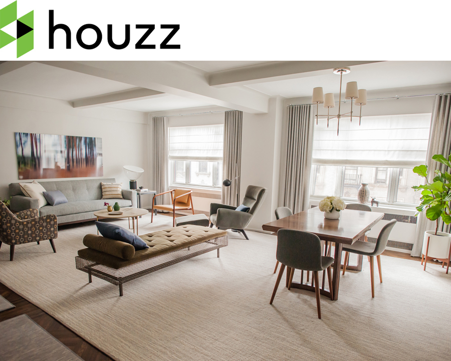 Our Upper West Side Transitional project is featured as Room Of The Day on Houzz