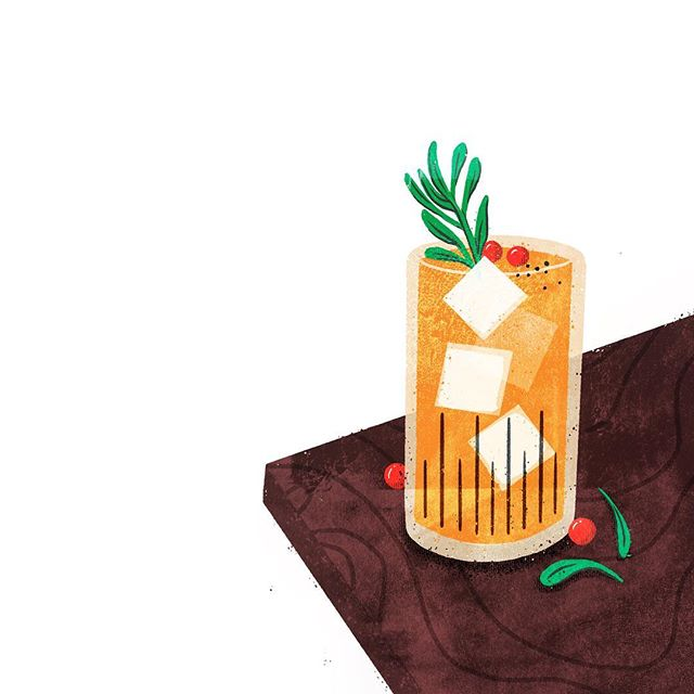 I'd be perfectly ok with having to draw cocktails every day. 🤗🍹🧡