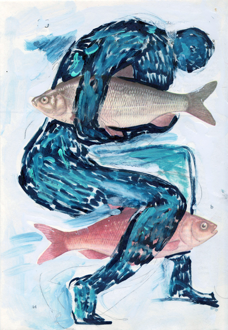 Poisson 1 , 2013, mixed media collage