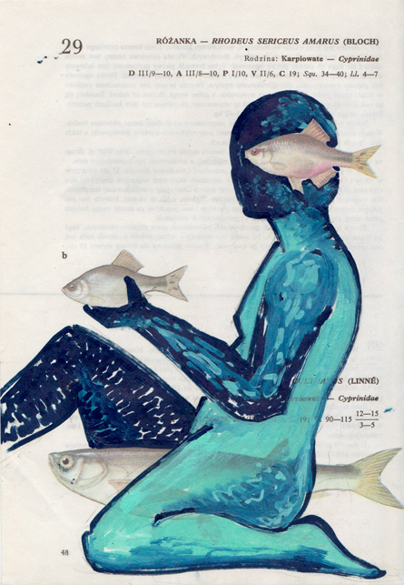 Poisson 6 , 2013, mixed media collage