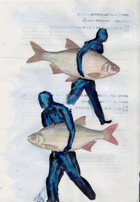 Poisson 11 , 2013, mixed media collage