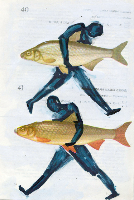 Poisson 19 , 2013, mixed media collage