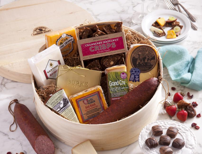 Wisconsin Indulgence Gift Basket  ($130 retail) from  Wisconsin Cheese Mart