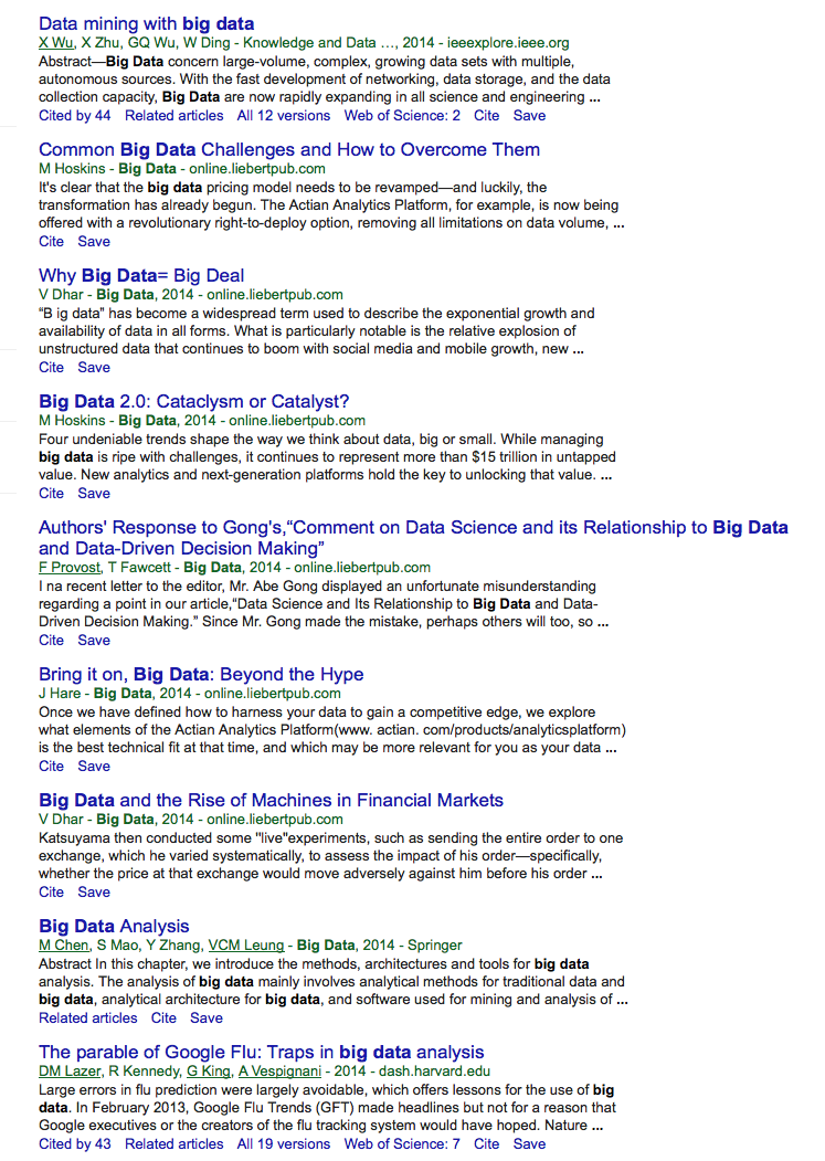 Is Yours Bigger Than Mine Big Data Revisited Acgt