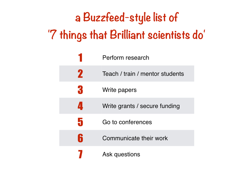 7 things that brilliant scientists do the last item might surprise