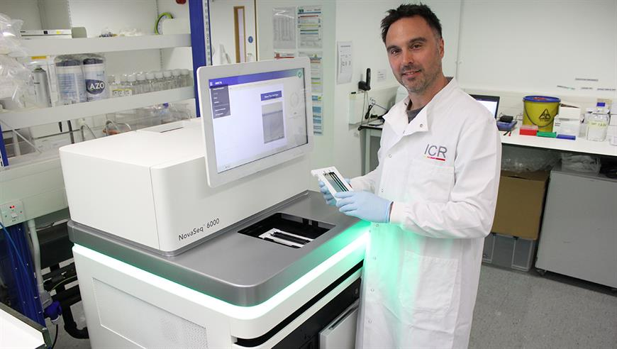 Dr Nik Matthews, Genomics Manager in the ICR's Tumour Profiling Unit. Credit: ICR