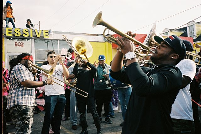 Mid City 2nd Line, shot on film.  #35mm #film #kodak #portra #travel #photography #neworleans