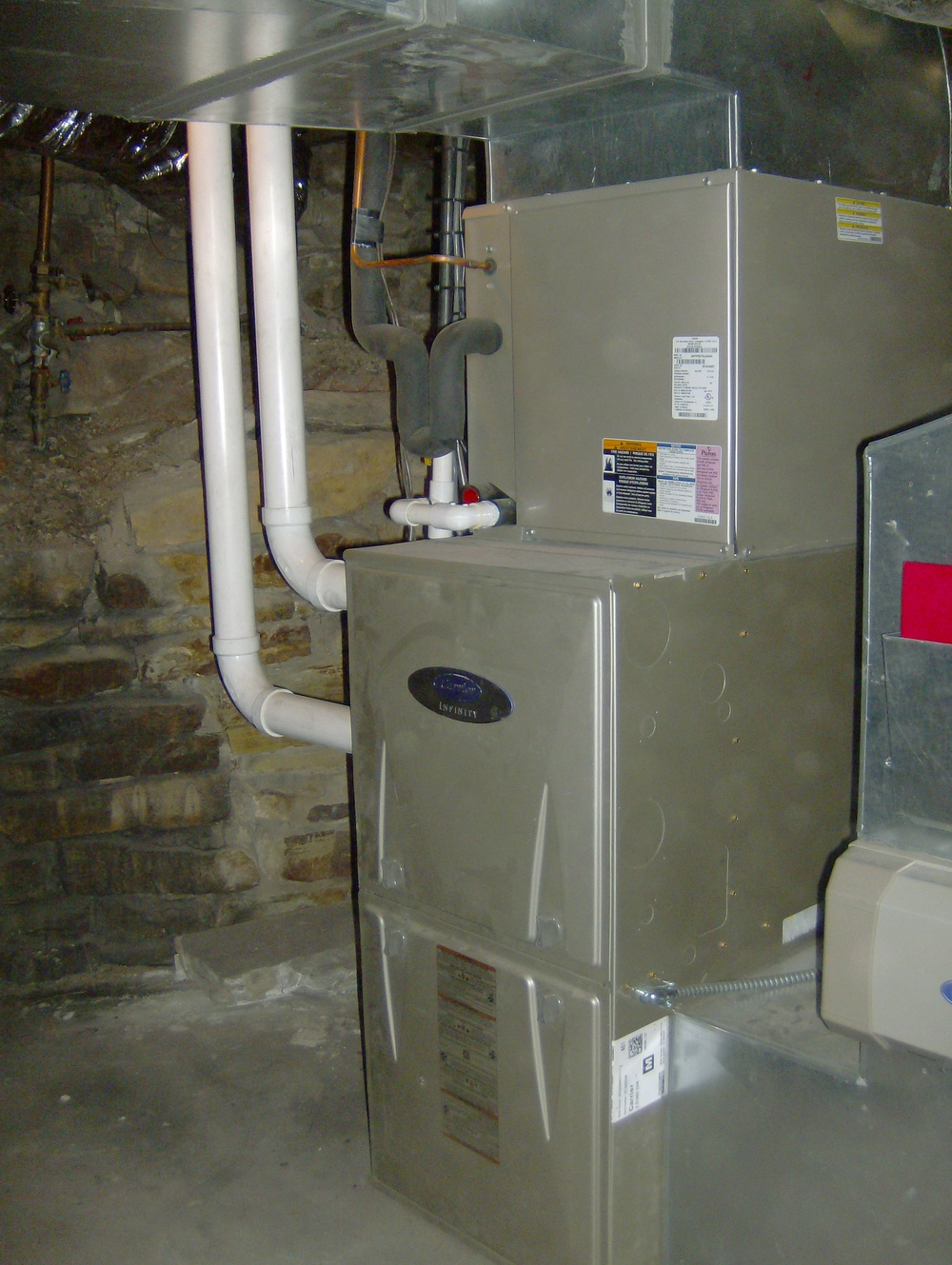 natural gas forced air heating system