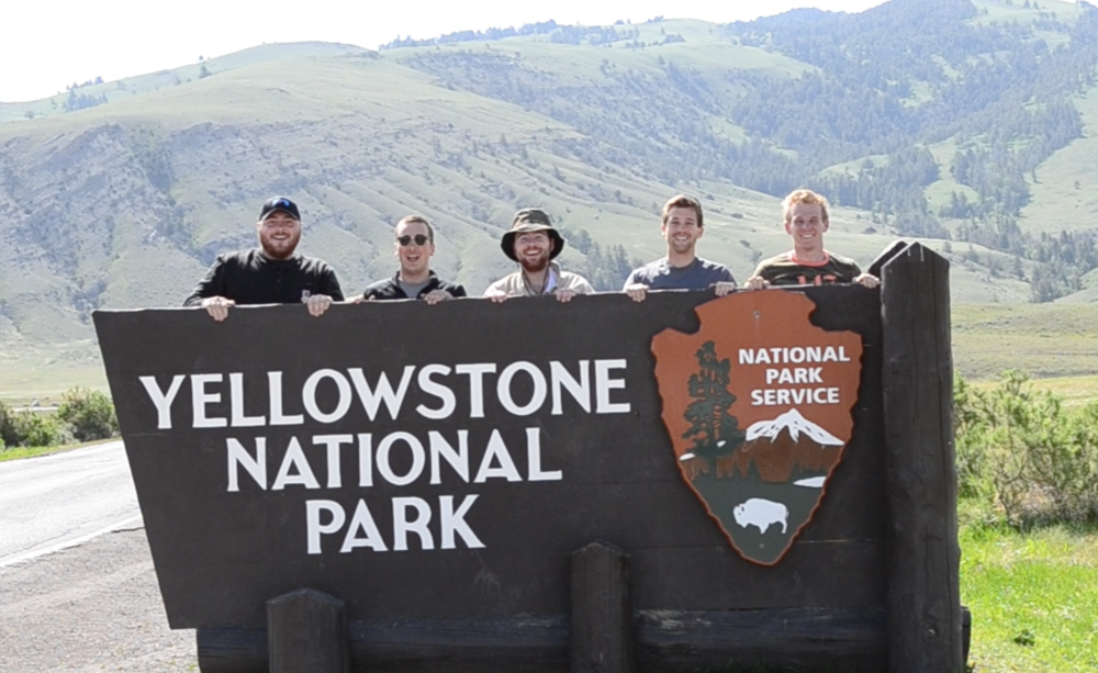 The crew does Yellowstone
