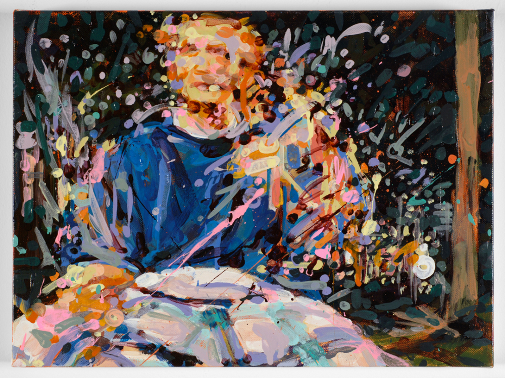 """MICHAEL VASQUEZ  """"Truce Talk 2"""" 2008  acrylic on canvas  16 x 20"""""""