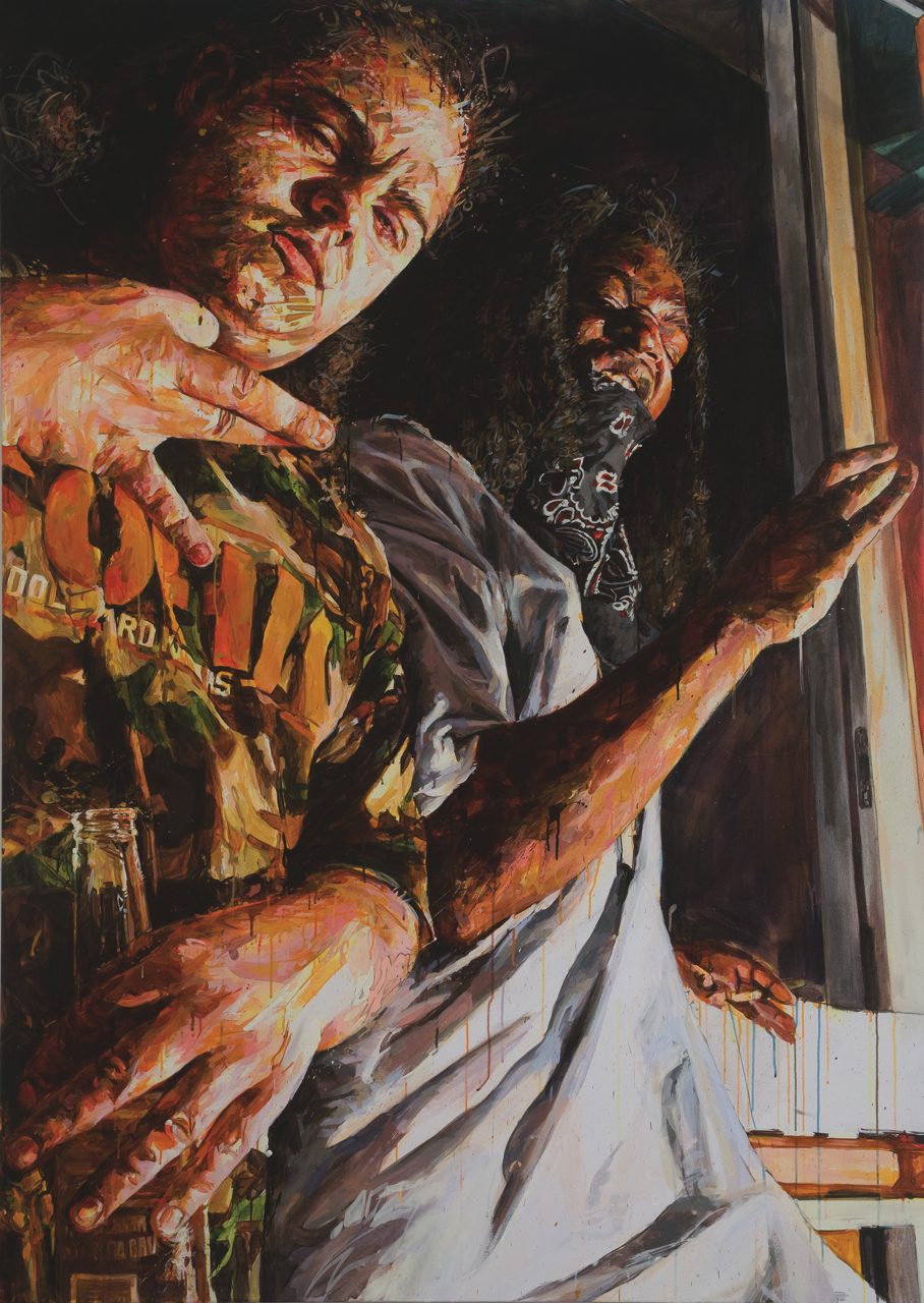 "MICHAEL VASQUEZ  Untitled 2008  acrylic on canvas  84 x 60"""