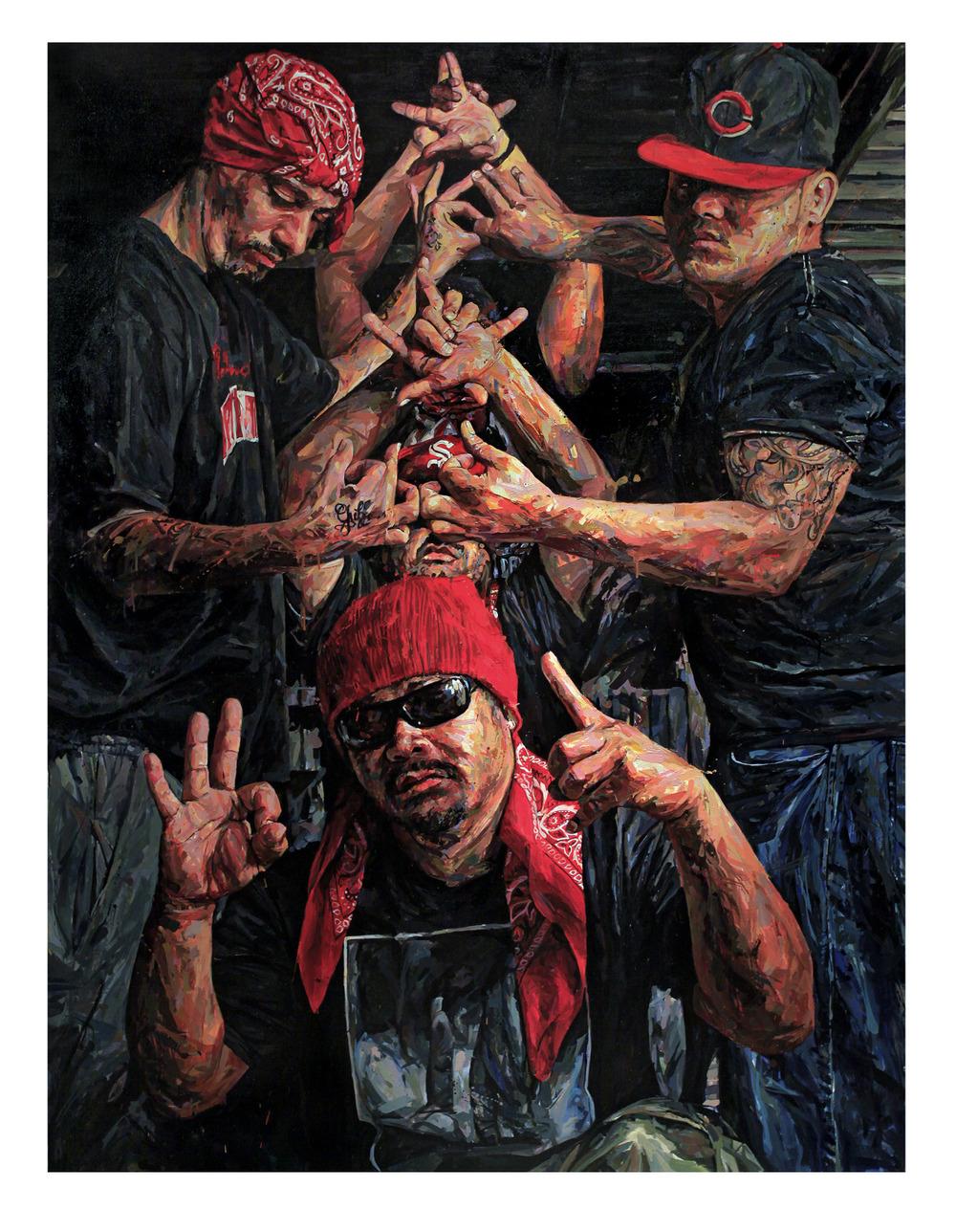 "MICHAEL VASQUEZ  ""Totem"" 2011  acrylic on canvas  96 x 72"""