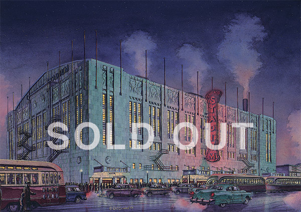 Chicago Stadium  By Daniel John Campbell    595 signed and numbered prints     Sold Out