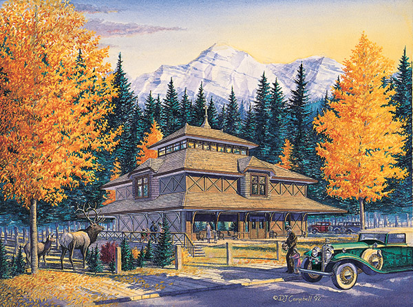 Banff Park Museum   by Daniel John Campbell    350 signed and numbered prints