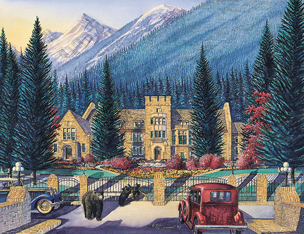 Banff Park Administration Buildings   By Daniel John Campbell  350 signed and numbered prints