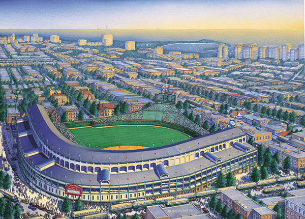 Wrigley Field   By Daniel John Campbell   1200 signed and numbered prints