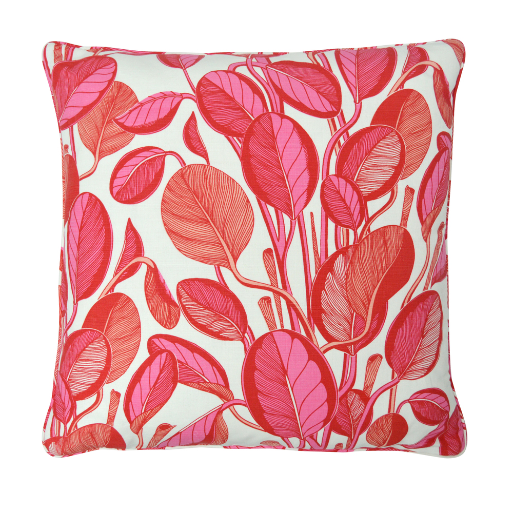 CALATHEA Large Cushion | Coral